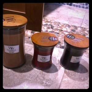 Woodwick by Yankee candle 3 piece